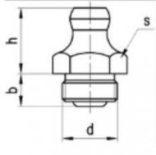 Gro As tehnički crtež mazalice SRPS M.C4.613 A oblik