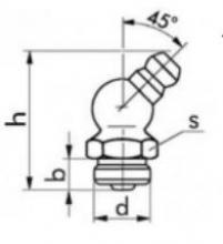 Gro As tehnički crtež mazalice SRPS M.C4.613 B oblik